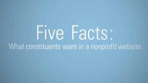 Five Facts What constituents want from your nonprofit website