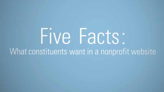 5 Facts: What Constituents Want from Nonprofit Websites