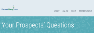 your prospects' questions