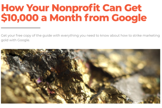 E-Book: How Your Nonprofit Can Get $10,000 a Month from Google