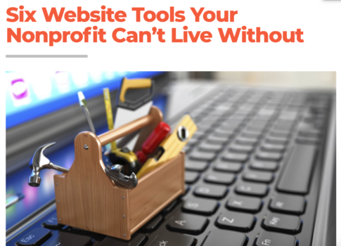 E-Book: Six Website Tools Your Nonprofit Can't Live Without