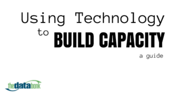 Guide: Using Technology to Build Capacity