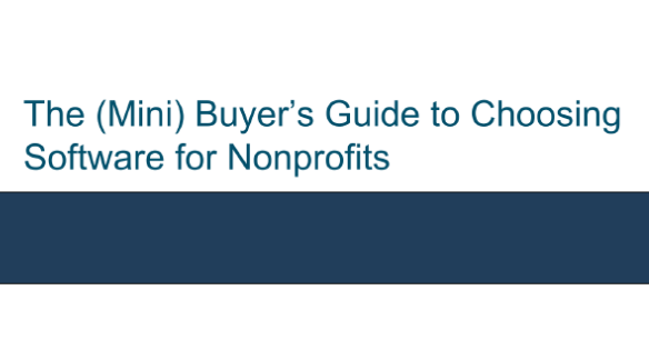 The (Mini) Buyer's Guide to Choosing Software for Nonprofits