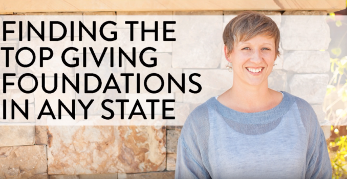 Finding the Top Giving Foundations in Any State
