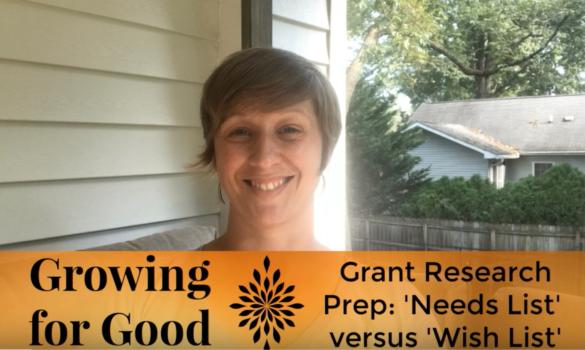 Grant Research Prep: 'Needs List' versus 'Wish List'