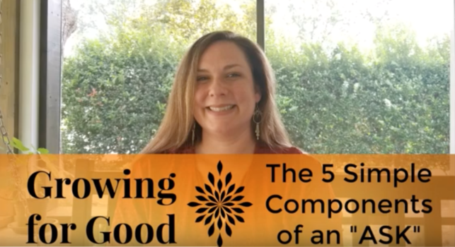 """The 5 Simple Components of an """"ASK"""""""