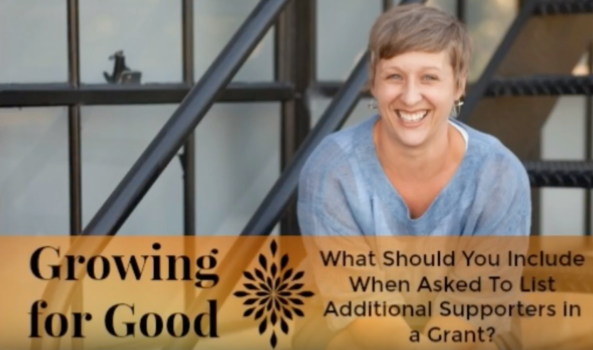 What Should You Include When Asked To List Additional Supporters in a Grant?