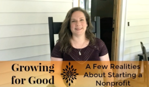 A Few Realities About Starting a Nonprofit