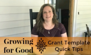 Grant Template Quick Tips
