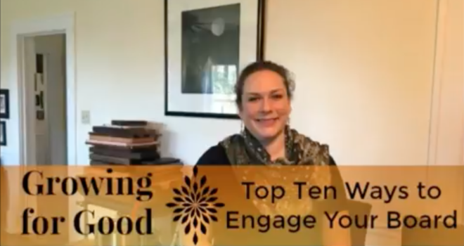 Top Ten Ways to Engage Your Board
