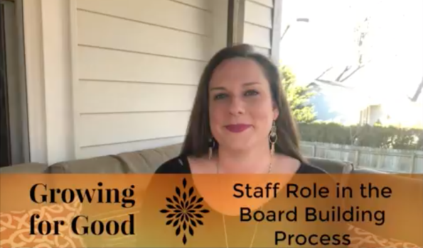 Staff Role in the Board Building Process