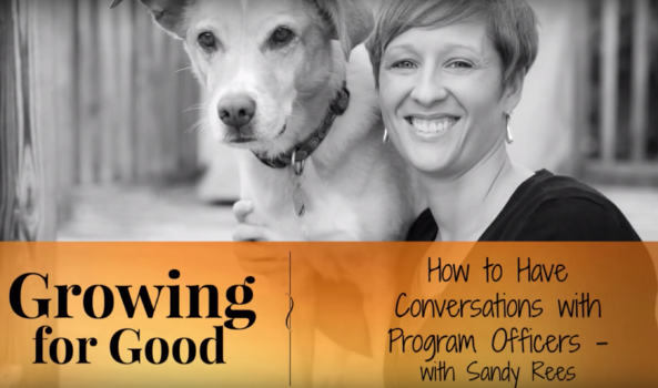 How To Have Conversations with Program Officers