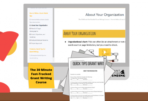 The 30 Minute Fast-Tracked Grant Writing Course