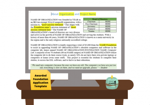 Awarded Foundation Application Template