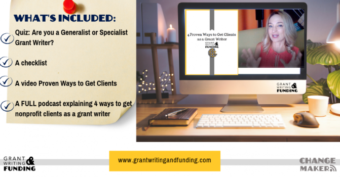 4 Proven Ways to Get Nonprofit Clients as a Grant Writer