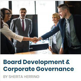 Board Development and Corporate Governance Training