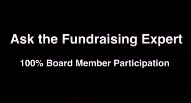 100 Percent Board Participation – Ask the Fundraising Expert