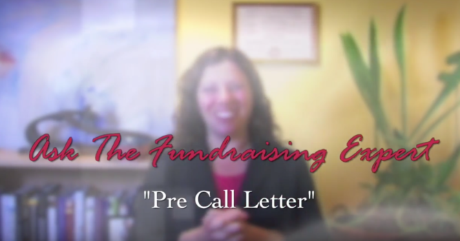 How and Why to Use a Pre-Call Letter – Ask the Fundraising Expert