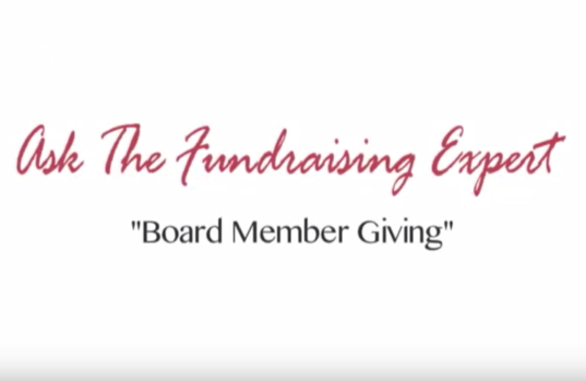 Get Your Board Members to Give 100% – Ask the Fundraising Expert