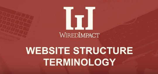 Website Structure Terminology
