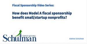 Schulman Fiscal Sponsorship