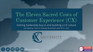 Eleven sacred cows of customer experience