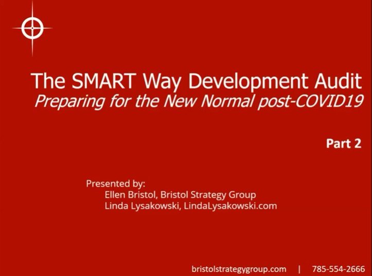 The SMART Way Development Audit, Part 2