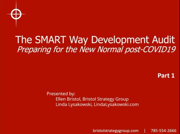The SMART Way Development Audit, Part 1