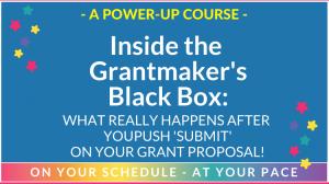 Insider the grantmakers black box