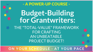 budget building for grant writers