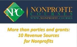nonprofit training on nonprofit revenue types