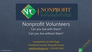 Nonprofit Volunteers cover image