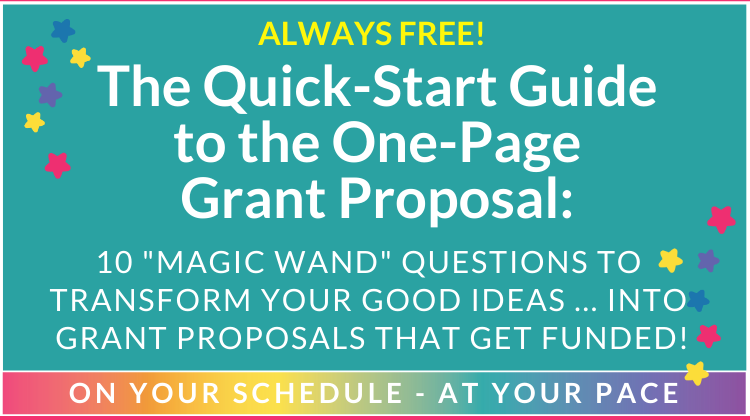 Quick-Start Guide to the One-Page Grant Proposal