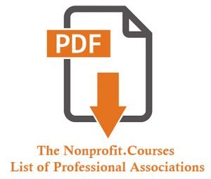 Nonprofit Courses list of professional Associations cover image