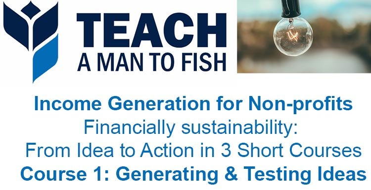 Income Generation for Non-profits, Course 1: Generating & Testing Ideas