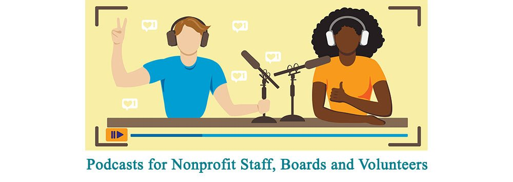 Man and Woman creating Podcasts for Nonprofits
