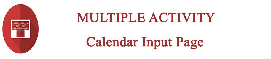 multiple activity calendar page
