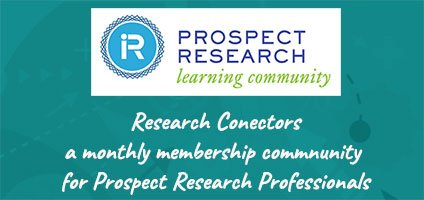 Become a (Prospect) Research Connector!