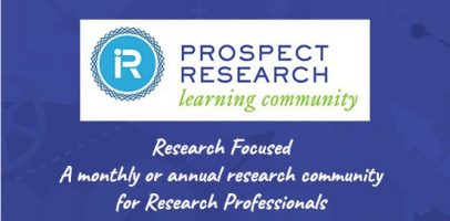 Prospect Research Institute Research Focused community logo