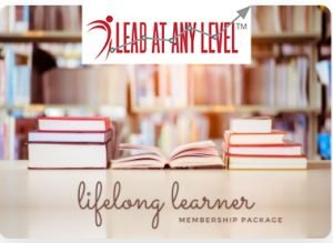 Lead at Any Level Lifelong learner membership package with logo