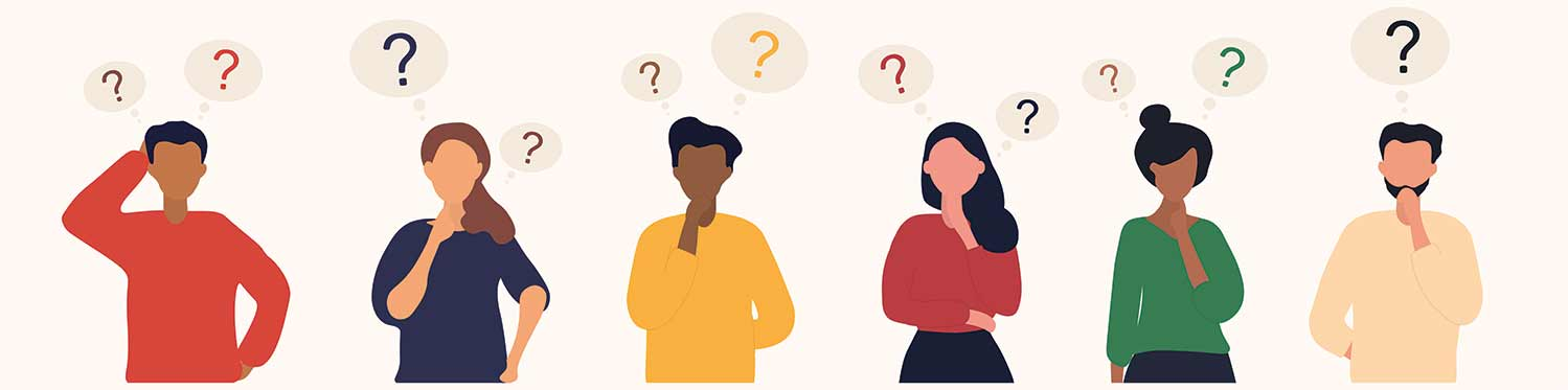Nonprofit.Courses FAQ Frequently Asked Questions image of people with questions